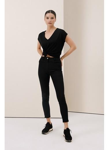 Gusto Power Streç Pantolon - Beyaz Power Streç Pantolon - Beyaz Siyah